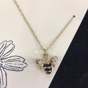 Bee on a gold chain